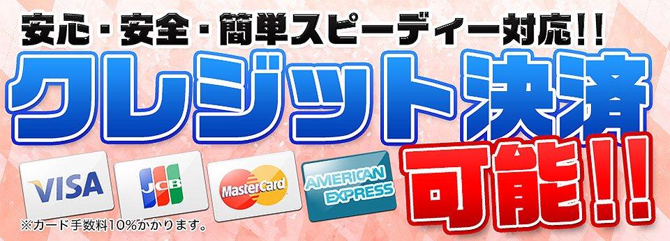 クレジットカード決済可能!!