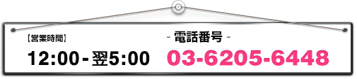 15:00-05:00 03-6205-6448